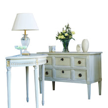 Gustavian two drawer chest of drawers - hand painted finish