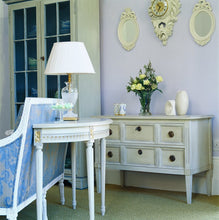 Gustavian two drawer chest of drawers - in situ