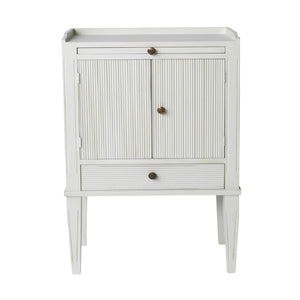 Gustavian painted furniture - bedside cabinet - painted finish