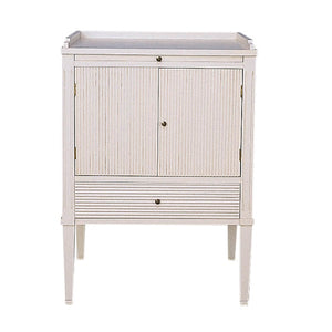 Gustavian painted furniture - bedside cabinet - hand made