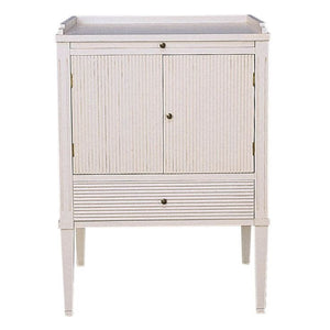 Gustavian painted furniture - bedside cabinet - hand painted