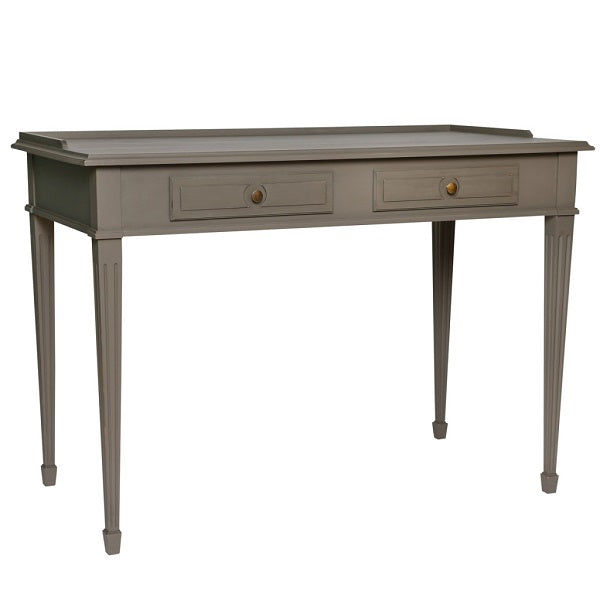 Gustavian 2 drawer desk with detailing