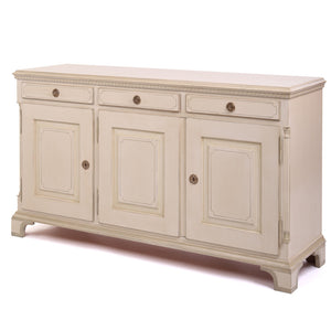 Gustavian 3 door sideboard - side detail