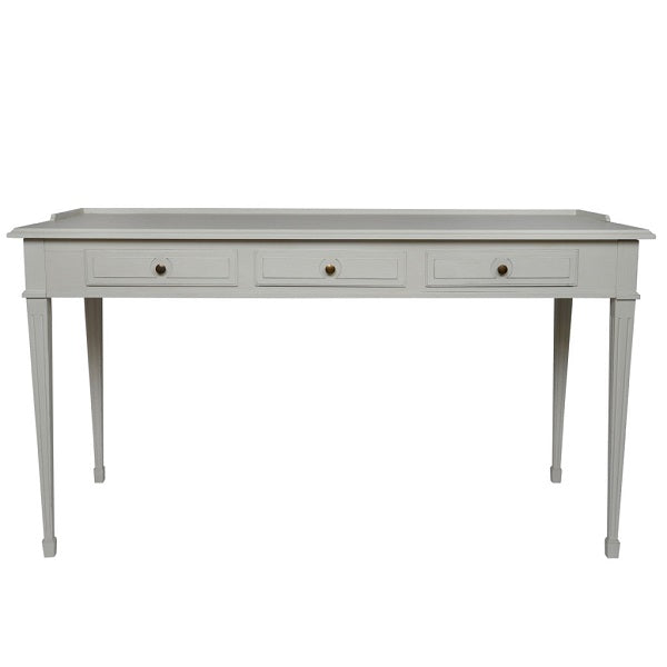 Gustavian 3 drawer desk with detailing