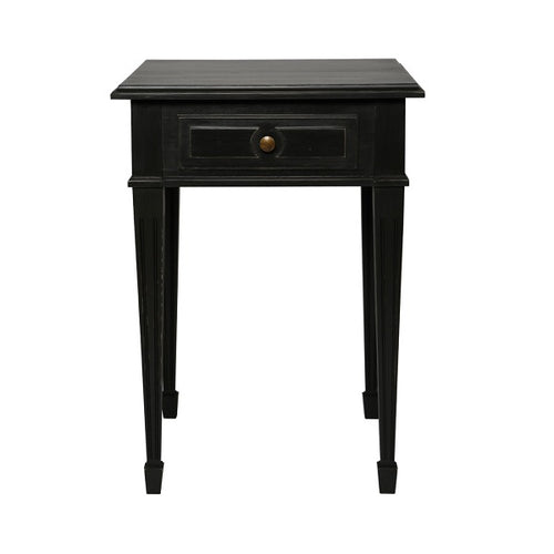 Gustavian bedside table with drawer in hand painted finish