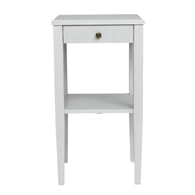 Gustavian bedside table with shelf - painted finish