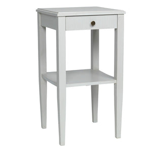 Gustavian bedside table with shelf - side detail