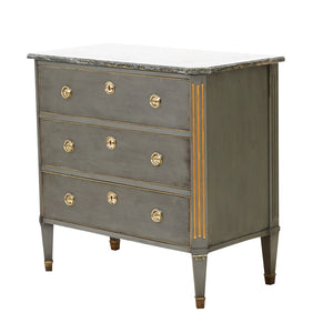 antique chest of drawers - side