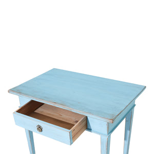 Gustavian painted desk - drawer