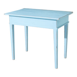 Gustavian painted desk - rear