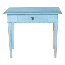 Gustavian painted desk - front