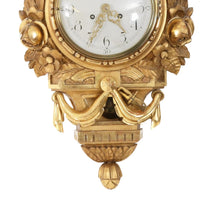 Gustavian wall clock detail base