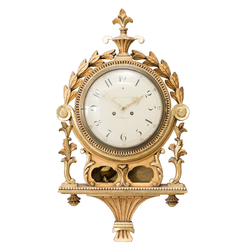 Gustavian wall clock
