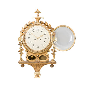 Gustavian wall clock - front