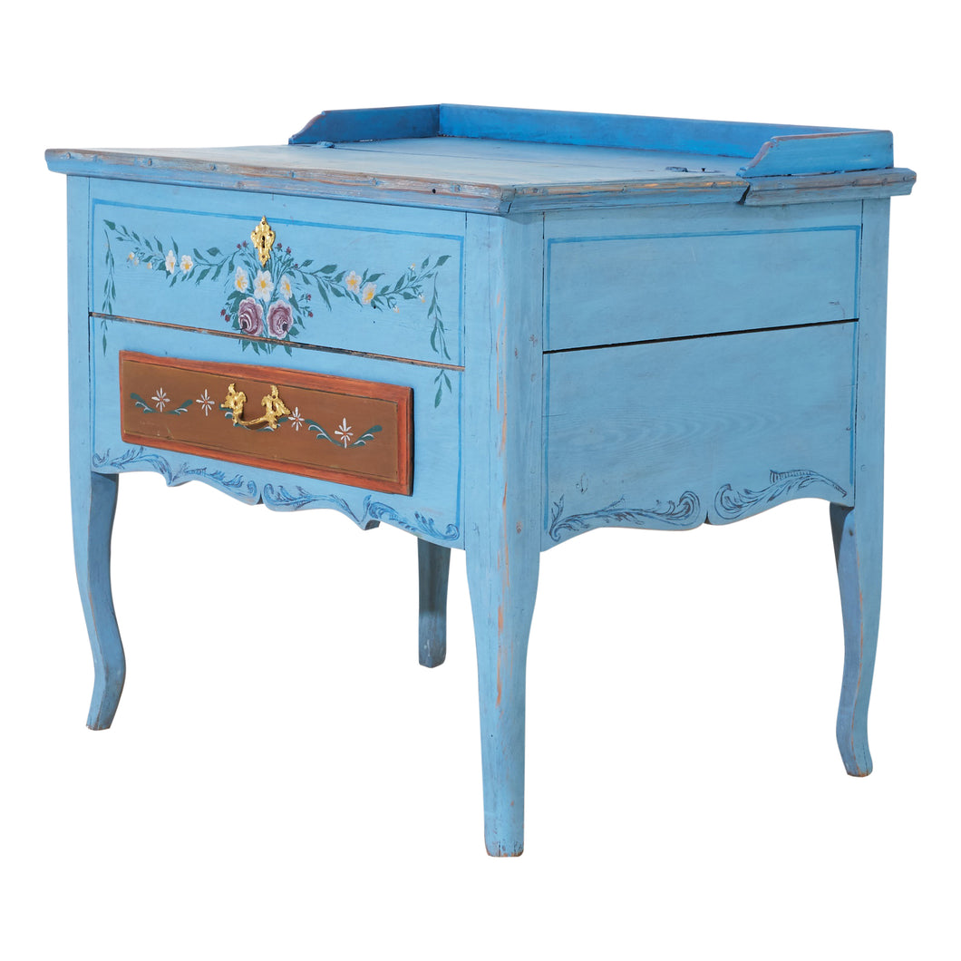Gustavian Swedish Blue Writing Desk