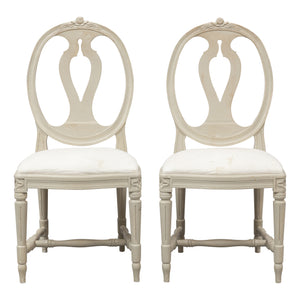 gustavian rose chair carved bud