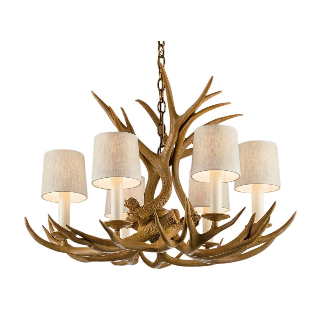 Natural antler light - smaller version