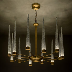 English brass clear glas pendant light - brass detail