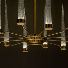 English brass clear glas pendant light - glass detail