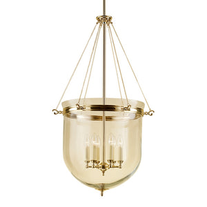 Brass lantern with glass