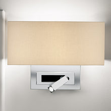 Polished chrome wall light with LED docking - detail