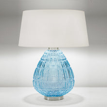 Laguna table lamp in aqua colour - detail