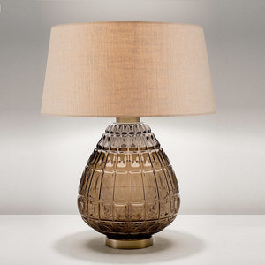 Laguna table lamp in mocca colour - detail