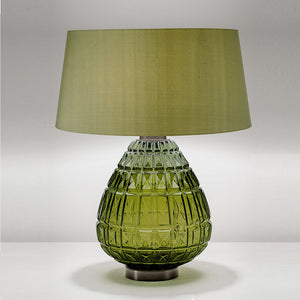 Laguna table lamp in olive colour - detail