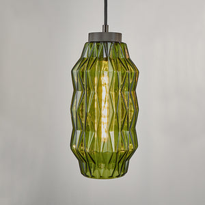 Geometric shaped glass pendant light - detail