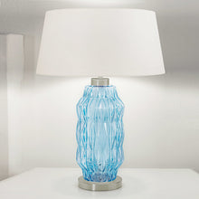 Laguna column table lamp in aqua colour - detail