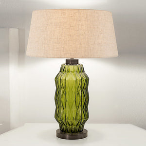 Laguna column table lamp in olive colour - detail