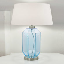 Laguna hexa table lamp in aqua colour - detail