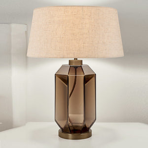 Laguna hexa table lamp in mocca colour - details