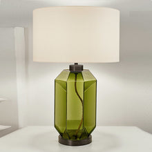 Laguna hexa table lamp in olive colour - details