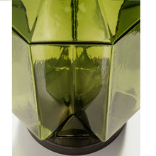 Laguna hexa table lamp in olive colour - close up