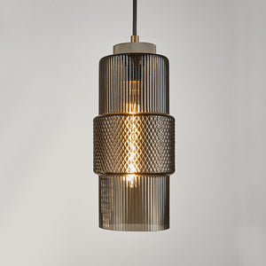 Laguna pendant with knurled detailing - mocca colour - details