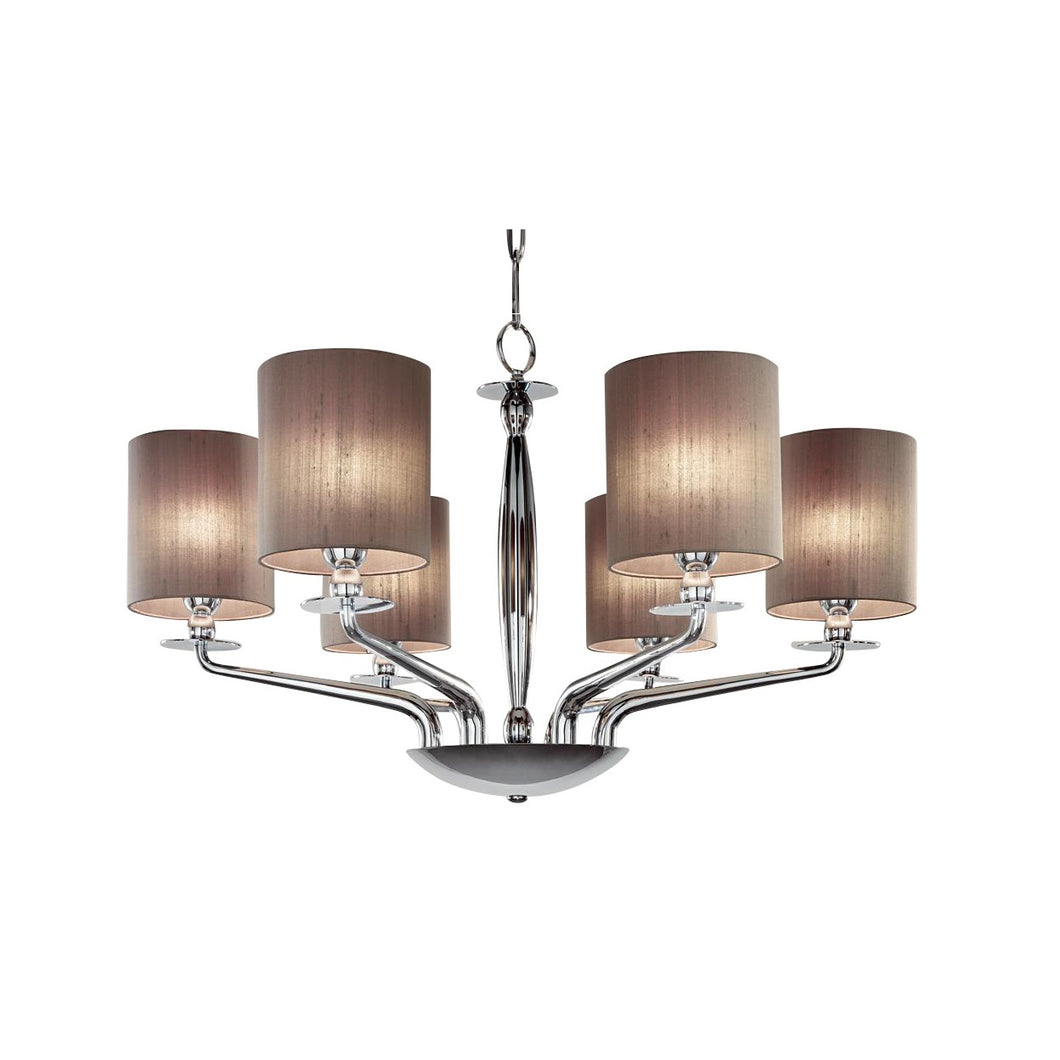 6 Lamp polished chrome chandelier