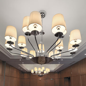 Polished chrome 15 arm ceiling light - detail