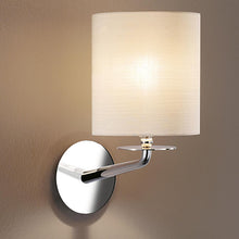 London polished chrome wall light - detail