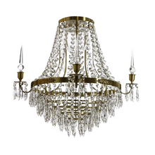 Large brass bathroom chandelier IP44