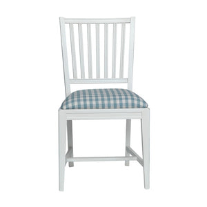 Leksand Wooden Chair with Upholstered Seat - painted