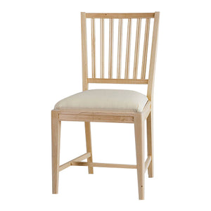 Leksand Wooden Chair with Upholstered Seat - carvings