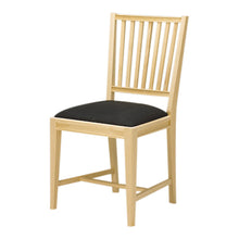 Leksand Wooden Chair with Upholstered Seat - wood