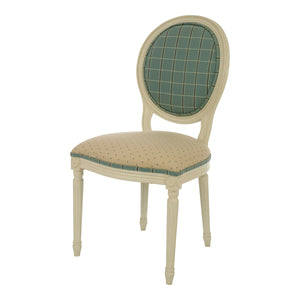 Oval Wooden Upholstered Chair - detail