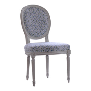 Oval Wooden Upholstered Chair