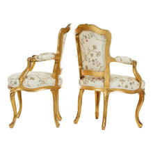 Louis XV style armchairs - side and back