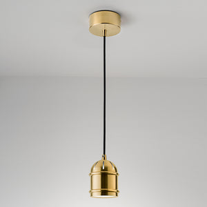 Brushed Brass pendant light - detail