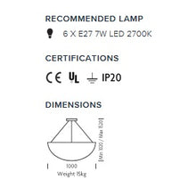 Steel grey pendant light: Height 152cm - measurements