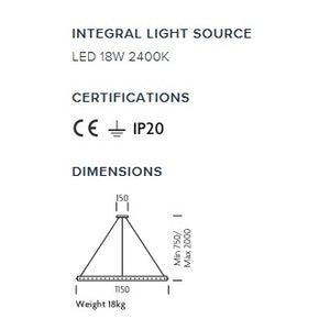 Rock Crystal Ceiling Light - measurements