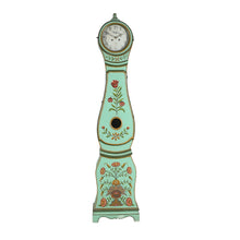 Mora Clock with floral paint details from Sweden